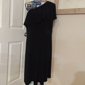 Lane Bryant Black One Shoulder Dress 👗